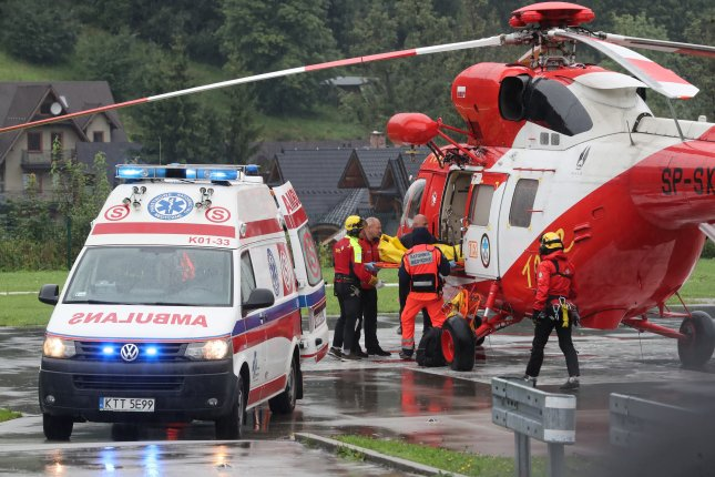 Four people died Thursday and 100 more were injured after lightning struck the summit of a mountain in Poland on Thursday. Photo by Grzegorz Momot/EPA