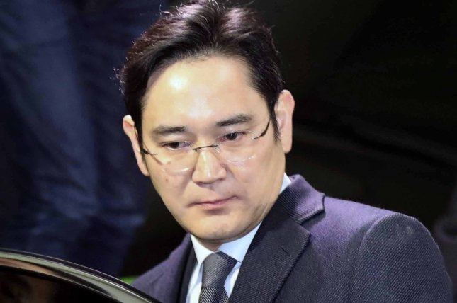 Samsung Vice Chairman Jay Y. Lee is meeting with top scientists specializing in artificial intelligence. File Photo by Yonhap/EPA-EFE