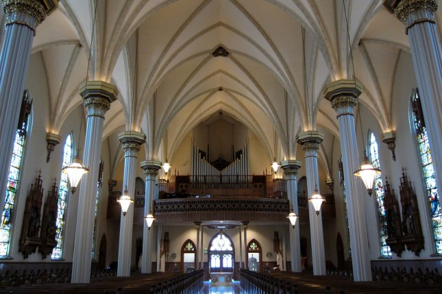 The Cathedral of the Immaculate Conception in Fort Wayne, Ind., is among the churches where priests have been credibly accused of sexually abusing children, the Diocese of Fort Wayne-South Bend says. Photo by Nheyob/Wikimedia Commons