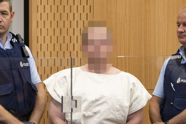 Brenton Tarrant told a court Wednesday that he was the lone gunman in shootings at a pair of New Zealand mosques last year that killed 51 people, after previously pleading not guilty to murder and terrorism charges.  Photo by Martin Hunter/EPA-EFE