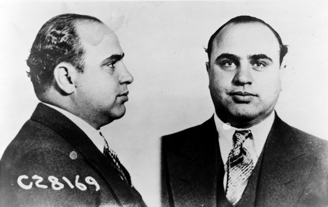 Prisoner #C28169, better known as Al Capone, taken on June 17, 1931. File Photo by Department of Justice/UPI
