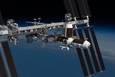 Axiom Space habitat modules are depicted attached to the International Space Station as part of NASA's plan to further commercialize work in low Earth orbit. Image courtesy of Axiom