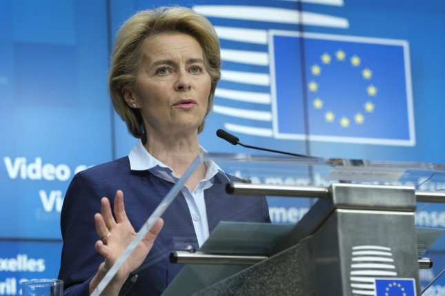 Our political commitment to becoming the first climate neutral continent by 2050 is now also a legal commitment,European Commission President Ursula von der Leyen said Wednesday. File Photo by Olivier Hoslet/EPA-EFE