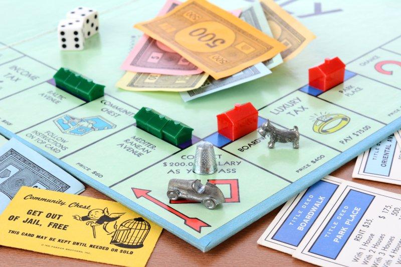 A Monopoly board game set. Photo by LunaseeStudios/Shutterstock.com