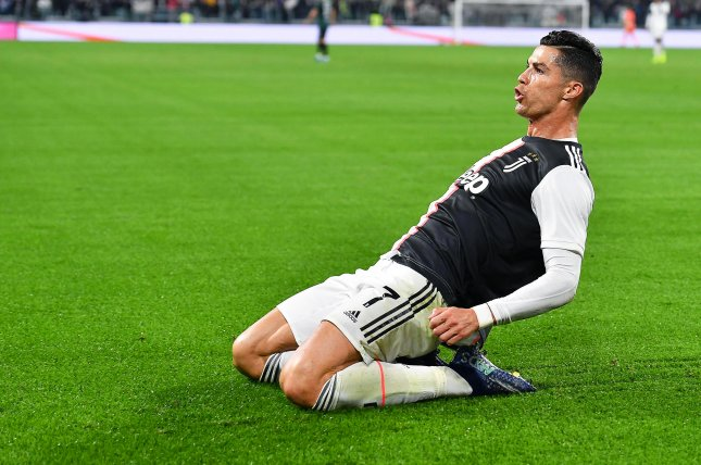Juventus star Cristiano Ronaldo makes more money from advertisement posts on Instagram than he does playing soccer per season at Juventus. Photo by Alessandro Di Marco/EPA-EFE