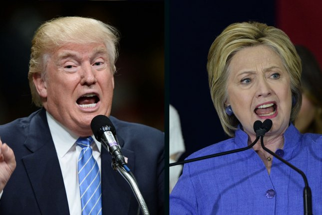 Hillary Clinton stretched her lead in the presidential election to nearly 6 percentage points over Donald Trump in Sunday's UPI/CVoter online daily tracking poll. UPI file