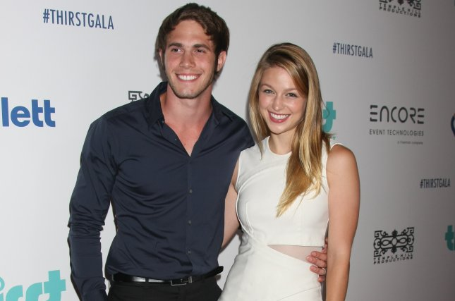 Melissa Benoist (R) with Blake Jenner at the Thirst Gala on June 30. The pair's divorce has been finalized. File Photo by Helga Esteb/Shutterstock