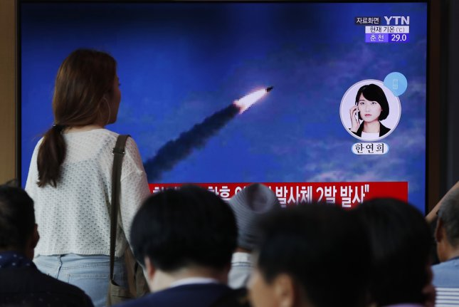South Korea's Joint Chiefs of Staff announced that North Korea launched two unidentified projectiles from its east coast on Thursday. Photo by EPA-EFE/Jeon Heon-Kyun