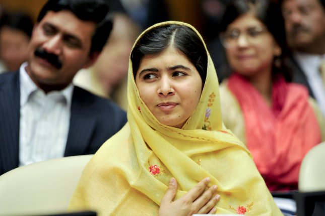 Malala Yousafzai, pictured in 2013, announced she will donate $50,000 in prize winnings to help rebuild U.N. schools damaged by recent conflict in Gaza. (UPI/United Nations)