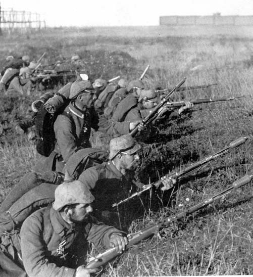 German soldiers are at the front at the First Battle of the Marne during World War I. The battle started September 6, 1914. File Photo courtesy the German army