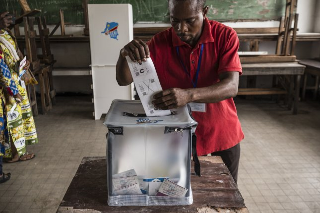 Millions of people took to the polls in the Democratic Republic of Congo Sunday to vote for the successor to longtime President Joseph Kabila. Photo by Stefan Kleinowitz/EPA
