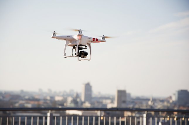 Quadcopter drone with mounted camera. File Photo by Newnow/Shutterstock