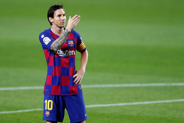 Barcelona forward Lionel Messi, a six-time Ballon d'Or winner, made his league debut for Barcelona in 2004. File Photo by Alberto Estevez/EPA-EFE