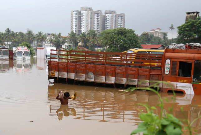 Researchers say global warming is making India's monsoon season more chaotic, which may cause a range of economic and well-being issues in the country. File Photo by Prakash Elamakkora/EPA-EFE
