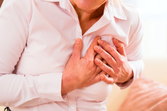 Women are higher risk than men for heart failure and death after a heart attack, a new study has found. File Photo by Kzenon/Shutterstock