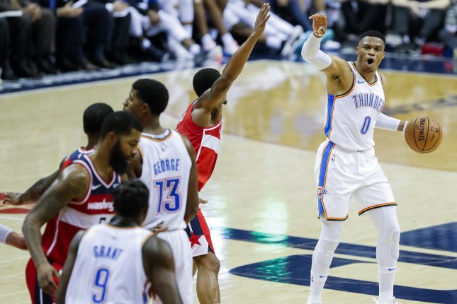 Thunder's Russell Westbrook could move into solo third in triple