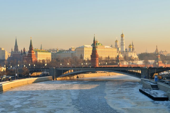 A view of the Kremlin in Moscow, Russia, in winter. Russia, on Saturday, announced the arrest of 10 people who reportedly have ties to Islamic State and had plans to set off bombs in public places in both St. Petersburg and Moscow. File photo by Denis Larkin/Shutterstock