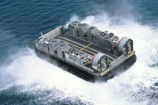 South Korea's Defense Acquisition Program Administration says moving its hovercraft landing ship program forward will stimulate the country's shipbuilding industry. This graphic file image shows a hovercraft landing ship. (Yonhap)