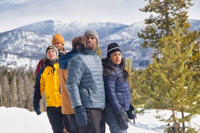 Former NFL star Vernon Davis (front) recently earned the lead role in the movie Red Winter. Photo courtesy of Lael Siler