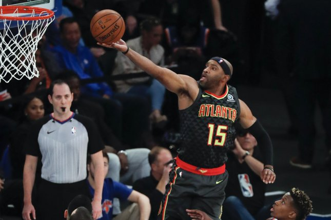Earlier this year, Atlanta Hawks guard Vince Carter became the first NBA player to appear in at least one game in four different decades. File Photo by Jason Szenes/EPA-EFE