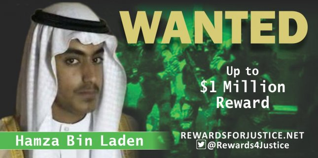The United States has offered a $1-million reward for information on the whereabouts of Hamza Bin Laden, Osama Bin Laden's son. Photo courtesy U.S. State Department