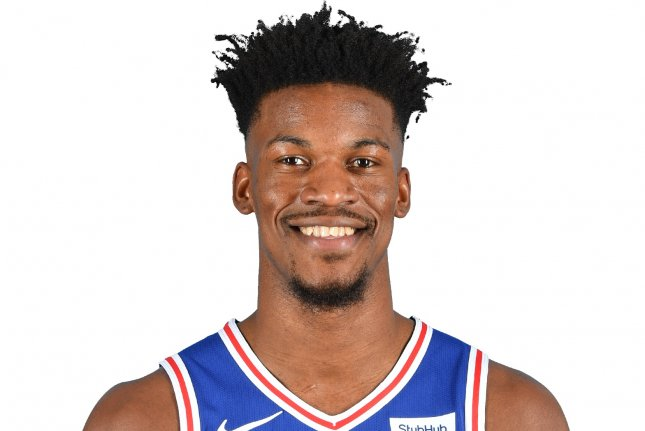 Philadelphia 76ers star Jimmy Butler scored 16 points in a win against the Los Angeles Clippers on Tuesday at Staples Center in Los Angeles. Photo courtesy of the NBA