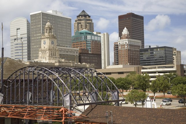 A view of the Des Moines, Iowa, skyline. The state of Iowa ranked first overall in a report this week on the best U.S. states in which to live. Photo by Joseph Sohm/Shutterstock/UPI