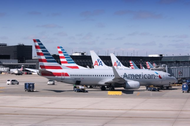 A passenger aboard an American Airlines flight from Los Angeles to Hawaii was arrested after trying to break down the cockpit door. File Photo by Upungato/Shutterstock