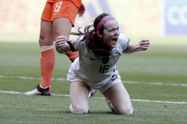 United States Women's National Team player Rose Lavelle scored in the Washington Spirit's 2-1 win against the Chicago Red Stars Saturday in Herriman, Utah. Photo by Ian Langsdon/EPA-EFE