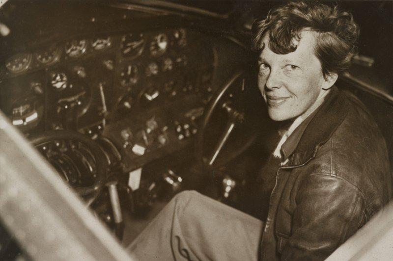 Aviator Amelia Earhart was the first woman to complete a U.S. coast-to-coast flight on August 24, 1932. File Photo UPI