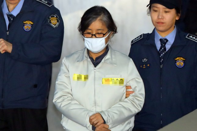 Choi Soon-sil pleaded not guilty Wednesday in a Supreme Court-ordered review of a corruption scandal that led to parliament's impeachment of President Park Geun-hye. Photo by Yonhap