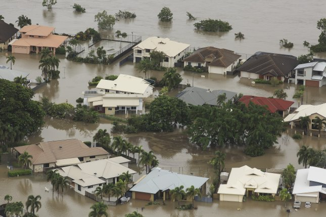 More than 500 homes in Australia are underwater and thousands more face the risk of flooding as historic rains pour over the city of Townsville in Queensland. Photo by Dave Acree/EPA