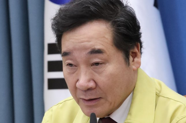 South Korean Democratic Party leader Lee Nak-yon was confronted by angry protesters in Chuncheon, Gangwon Province on Friday. File Photo by Yonhap/EPA-EFE