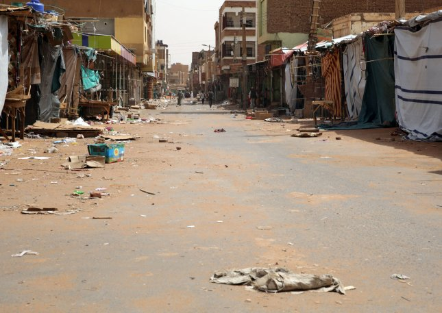 Sudan's opposition Sudanese Professionals Association said a general strike, which began Sunday, will continue until the military relinquishes rule of the country. Photo by Marwan Ali/EPA-EFE