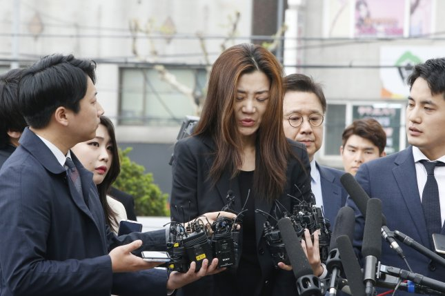 Former Korean Air CEO Cho Hyun-min returns to work withHanjin KAL,14 months after she was forced to resign following allegations she shouted and threw water at an advertising executive during a meeting on June 16. Photo by Kim Hee-chul/EPA-EFE