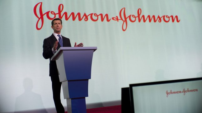Johnson & Johnson CEO Alex Gorsky speaks at the pharmaceutical company's 2013 shareholder meeting. A judge in Oklahoma ordered the company to pay the state $572 million for its role in the opioid crisis. File Photo courtesy Johnson & Johnson