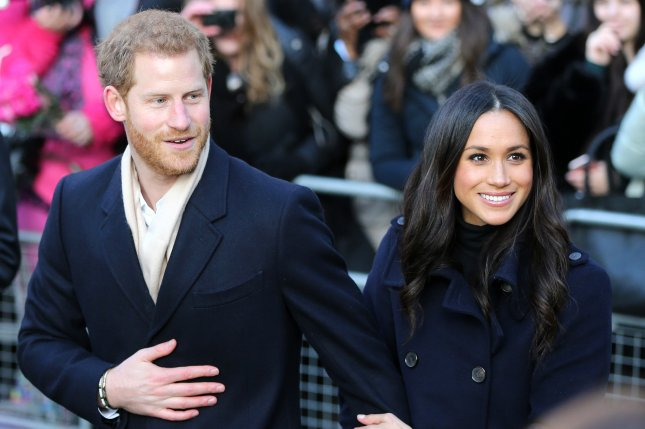 Prince Harry (L) and Meghan Markle are to wed on May 19, it was announced Friday. File Photo by Nigel Roddis/EPA-EFE