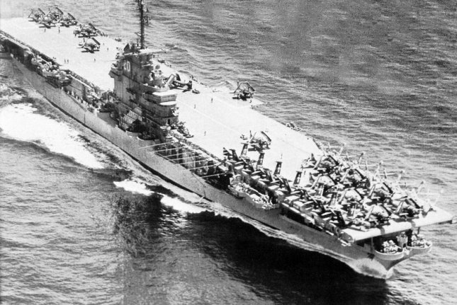 On May 26, 1954, more than 100 crewmembers of the aircraft carrier USS Bennington died in an explosion off Rhode Island. File Photo courtesy of the U.S. Navy