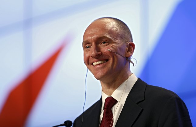 The Justice Department declared two of four surveillance warrants against former Trump campaign adviser Carter Page invalid, according to a FISA Court order released on Thursday. File Photo by Yuri Kochetkov/EPA