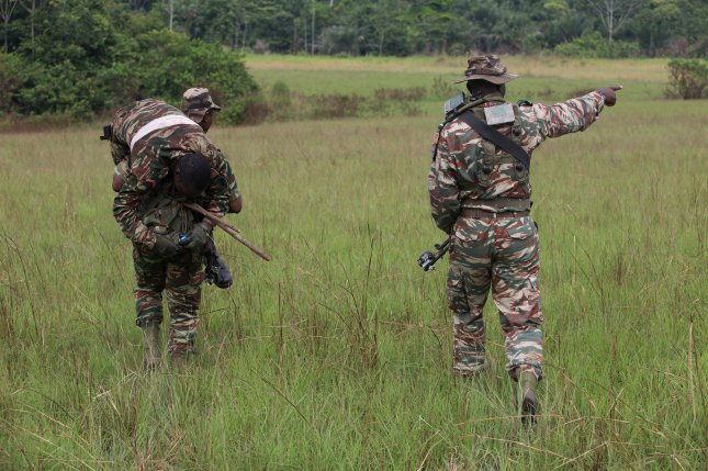 Cameroon soldiers participate in a field training exercise in Gabon on June 21, 2016. File Photo by SgT. Sha'Quille Stokes/U.S. Army/UPI