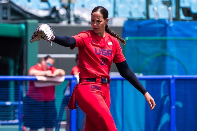 Ace pitcher Cat Osterman (pictured) struck out the only two batters she faced in relief of starter Ally Carda to help Team USA beat Japan at the 2020 Summer Games softball tournament Monday in Yokohama. Photo by Jade Hewitt, courtesy of USA Softball