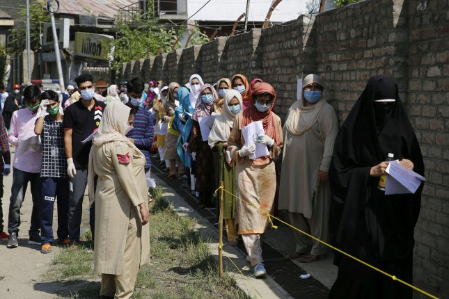 India has reported more than 90,000 cases in six of the last seven days. Photo by Farooq Khan/EPA-EFE