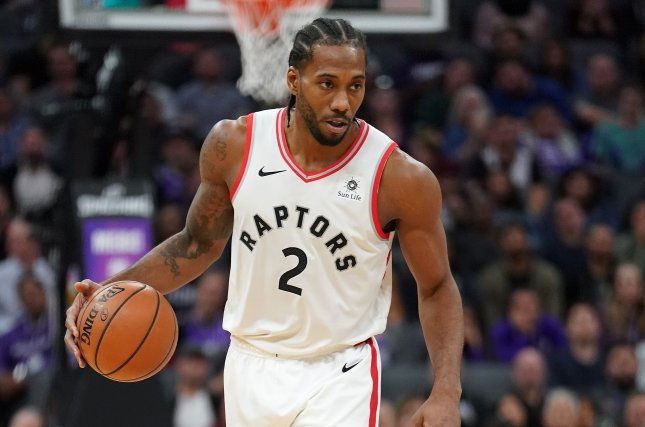 Toronto Raptors forward Kawhi Leonard scored 27 points with seven rebounds and a steal against the Orlando Magic in Game 5 Tuesday night. File Photo by John G. Mabanglo/EPA-EFE