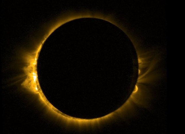 A total solar eclipse is expected to take place over a large swath of the Pacific Ocean on March 8 and 9. People should be able to view it, in totality or in part, from Indonesia and northern Australia to Hawaii. Photo by the European Space Agency.
