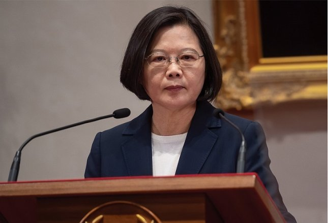 Taiwan President Tsai Ing-wen began her second four-year term in office Wednesday. Photo courtesy of Office of the President of the Republic of China (Taiwan)