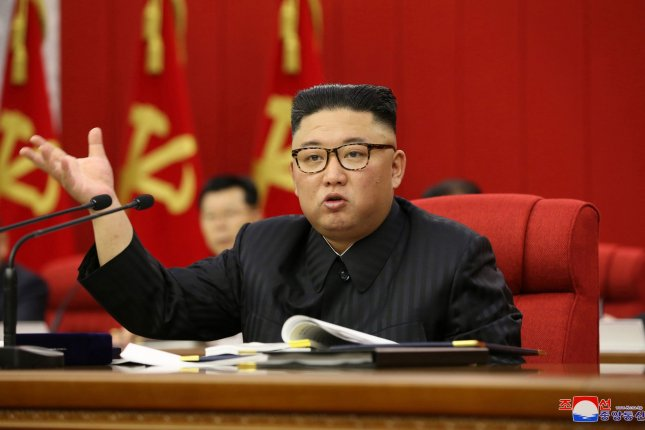 During a plenary meeting of the ruling Workers' Party of Korea, North Korean leader Kim Jong Un said Friday that North Korea must be prepared for both dialogue and confrontation with the United States. Photo by KCNA/EPA-EFE