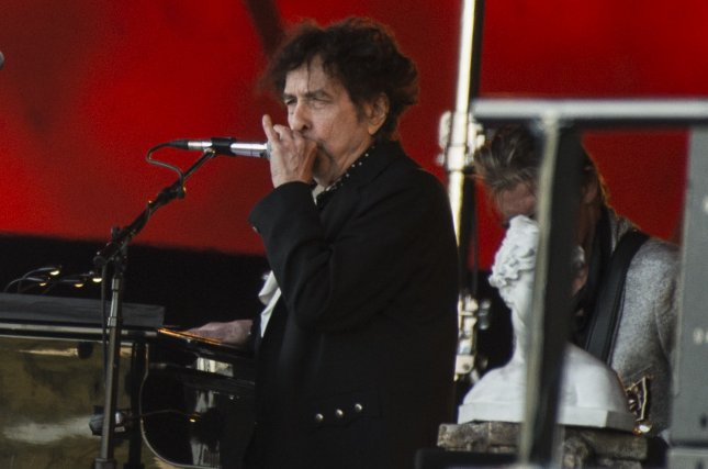 Bob Dylan will perform on a summer tour featuring Nathaniel Rateliff & the Night Sweats and Hot Club of Cowtown. File Photo by Helle Arensbak/EPA-EFE