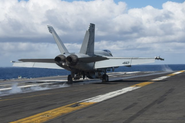 An F/A-18E Super Hornet, attached to the Sunliners of Strike Fighter Squadron 81, takes off from the flight deck of the Nimitz-class aircraft carrier USS Harry S. Truman on Dec. 1, 2019. The Truman Carrier Strike Group is conducting operations in U.S. 6th Fleet to support maritime security operations in international waters, alongside our allies and partners. Photo by Mass Communication Specialist 3rd Class Victoria Sutton/U.S. Navy