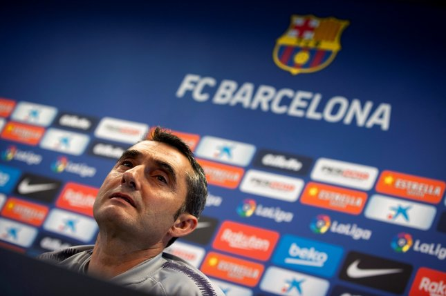 Ernesto Valverde began his tenure as Barcelona manager in 2017, after coaching Athletic Bilabo from 2013 to 2017. Photo by Enric Fontcuberta/EPA-EFE