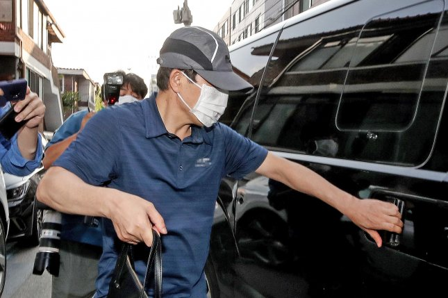 North Korean defector Park Sang-hak, the head of Fighters for a Free North Korea, was stripped of his operation permit on Friday. South Korea said Park and other activists were hindering Seoul's North Korea policy. Photo by Yonhap/EPA-EFE